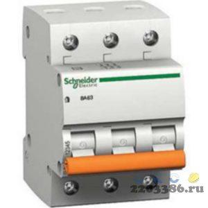 Выключатель автоматический 3п 20А С ВА63 4.5кА 9683987