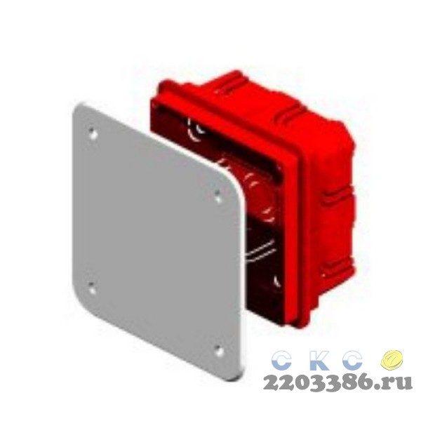 Коробка распределительная 100х100х40мм для скрытого монтажа с крышкой IP20 (КР1101)