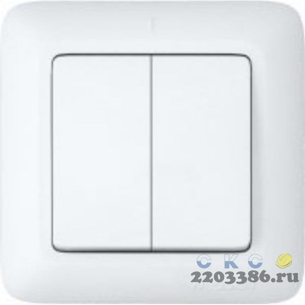Выключатель ПРИМА скр. 2кл. (250В, 6А) белый С56-043    73500040