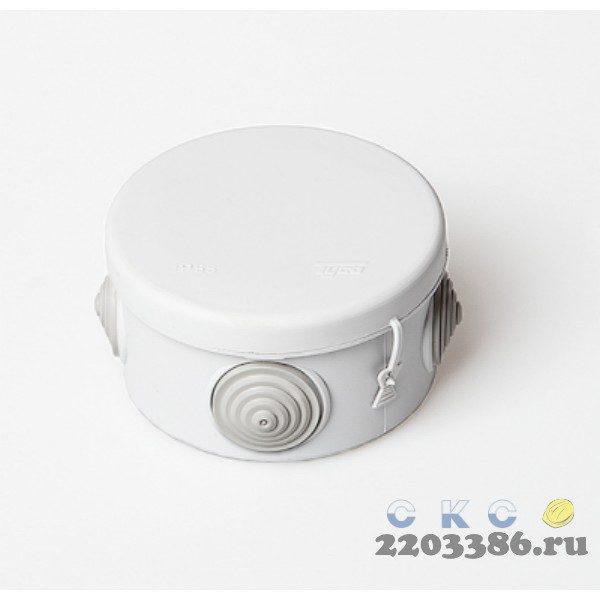 Коробка распр 80х50мм белая IP55 TYCO 67025Б