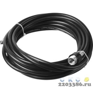 Шланг для прочистки труб для минимоек, ЗУБР 70414-375-8, 8м, для пистолета 375 серии