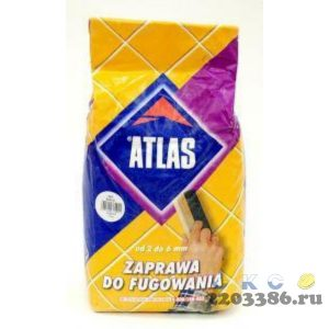 Затирка коричневая 2 кг (10шт/уп) АТЛАС 023