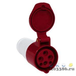 Розетка кабельная 16А 2Р+E IР44 переносная 250В 213 (PSR21-016-3)