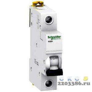 Выключатель автоматический однополюсный 16А С iK60N 6кА (A9K24116) 8177020