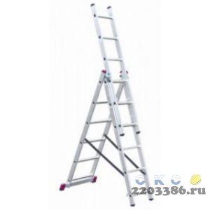 Лестница-стремянка трехсекционная KRAUSE CORDA  3х 6