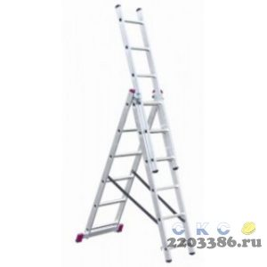 Лестница-стремянка трехсекционная KRAUSE CORDA  3х 9