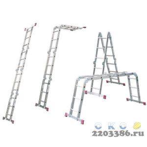 Лестница-трансформер KRAUSE CORDA 4х3 шарнирная, универсальная