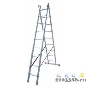 Лестница-стремянка двухсекционная KRAUSE MONTO DUBILO 2х 9