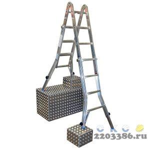 Лестница-трансформер KRAUSE MONTO TELEVARIO 4х4 шарнирная, телескопическая, 4 удлинителя
