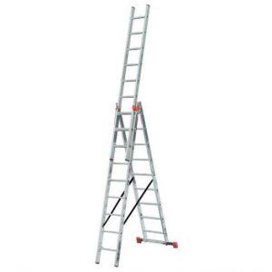 Лестница-стремянка трехсекционная KRAUSE MONTO TRIBILO 3х12