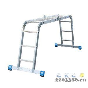 Лестница-трансформер KRAUSE STABILO  4х5 шарнирная, телескопическая, 4 удлинителя