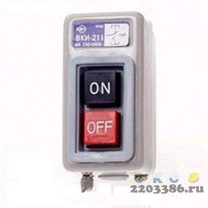 Выключатель кнопочный ВКИ-211 трехполюсный 6А IP40 230/400В (KVK10-06-3)