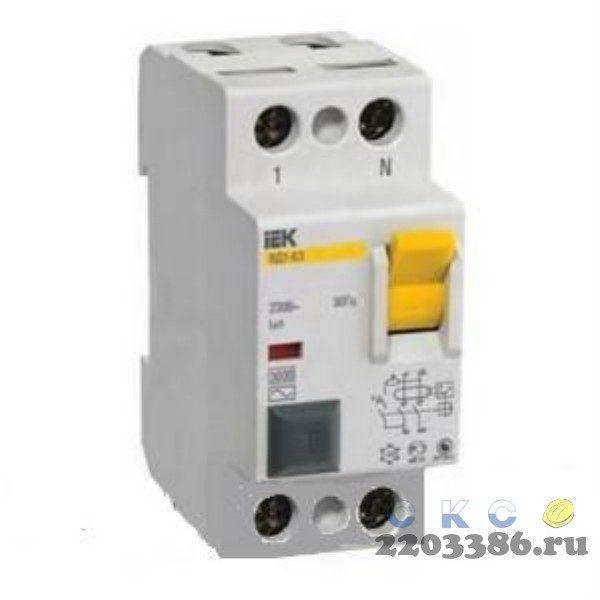 Выключатель дифференциального тока (УЗО) 2п ВД1-63 40A 30мA (MDV10-2-040-030)9532860