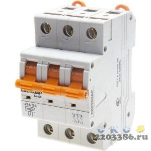 """Выключатель автоматический СВЕТОЗАР 3-полюсный, 40 A, """"C"""", откл. сп. 10 кА, 400 В"""