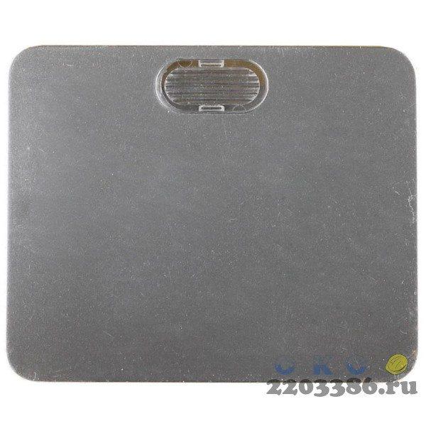 """Выключатель СВЕТОЗАР """"ГАММА"""" с подсветкой, одноклавишный, без вставки и рамки, цвет светло-серый металлик, 10A/~250B"""