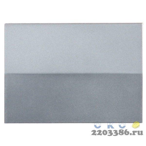 """Выключатель СВЕТОЗАР """"ЭФФЕКТ"""" одноклавишный, без вставки и рамки, цвет светло-серый металлик, 10A/~250B"""