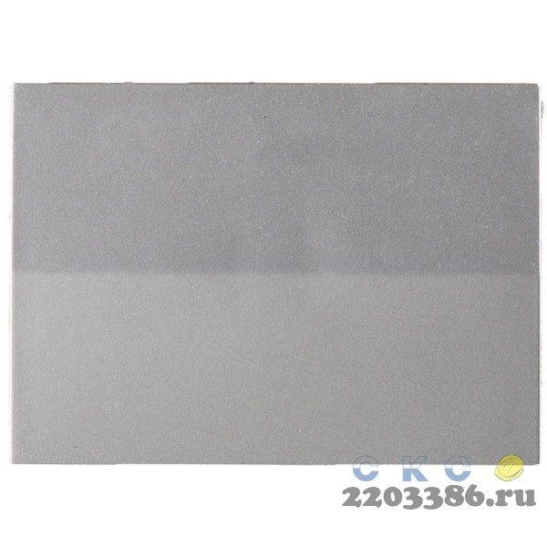 """Выключатель СВЕТОЗАР """"ЭФФЕКТ"""" проходной, одноклавишный, без вставки и рамки, цвет светло-серый металлик, 10A/~250B"""