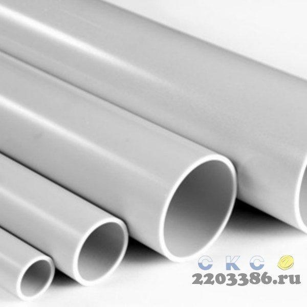 Труба ПВХ жёсткая гладкая д.20мм, лёгкая, 3м, цвет серый 86700022