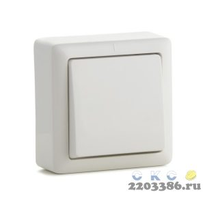 ХИТ Выключатель одноклавишный наружный 250В 6А белый (ВА16-131-б)