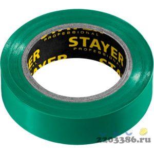 STAYER Protect-10 зеленая изолента ПВХ, 10м х 15мм