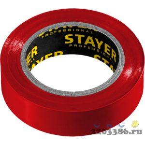 STAYER Protect-10 красная изолента ПВХ, 10м х 15мм