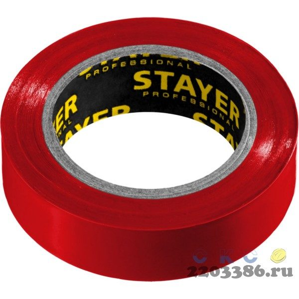 STAYER Protect-10 красная изолента ПВХ, 10м х 15мм