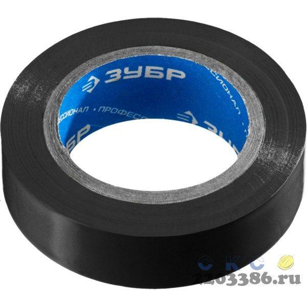 ЗУБР Электрик-10 черная изолента ПВХ, 10м х 15мм