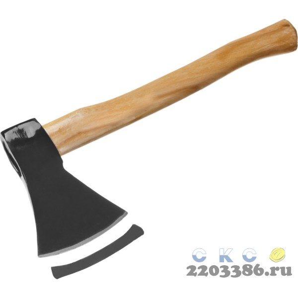 Топор 600 кованый с деревянной рукояткой 340 мм (общий вес 700 г) MIRAX