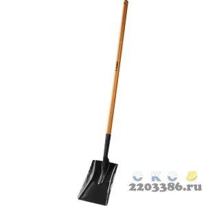 """Лопата """"Профи-10"""" совковая, деревянный черенок, ЗУБР Профессионал"""