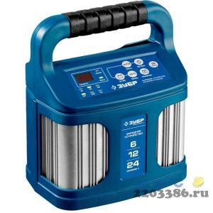 Зарядное устройство  6 В/12 В/24 В, 12 А, автомат, AGM, GEL, WET,  ЗУБР Профессионал