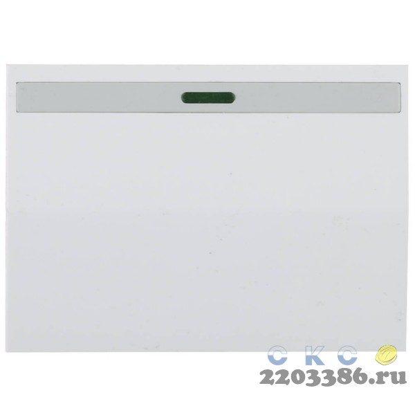 """Выключатель СВЕТОЗАР """"ЭФФЕКТ"""" одноклавишный, с эффектом свечения, без вставки и рамки, цвет белый, 10A/~250B"""