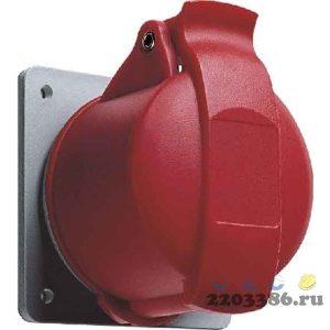 Розетка кабельная 32А 3Р+N+E IР44 скрытая 415В прямой фланец CEWE (432 RU6)