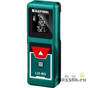 """Дальномер """"LD-40"""" лазерный, дальность 5см - 40м, точность 1,5 мм, KRAFTOOL 34763"""