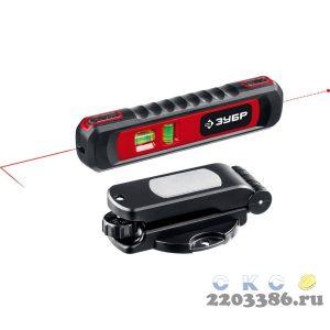 ЗУБР ТОЧКА-ЛИНИЯ  уровень линейный лазерный-точка (20м) + линия (5м) , подставка-штатив, точн. +/-0,4 мм/м, 34926