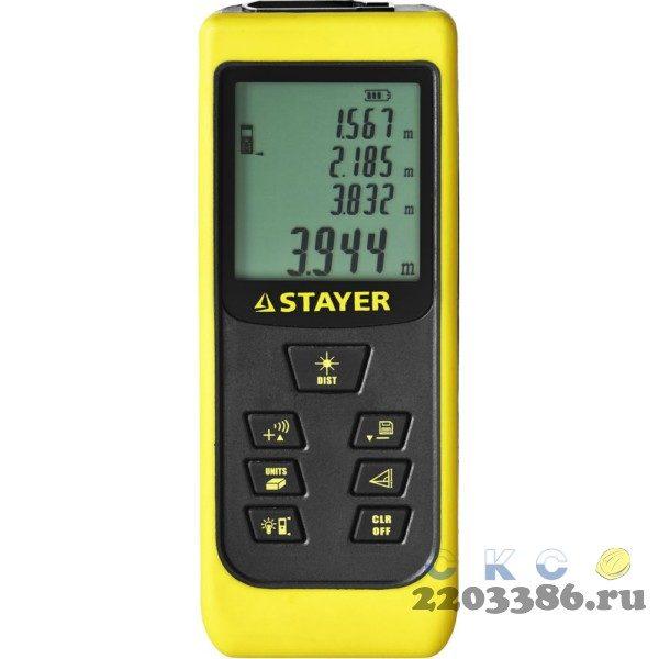 """Дальномер лазерный, """"LDM-60 """", дальность 60 м, 5 функций, STAYER Professional"""