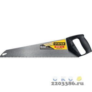"""Ножовка ударопрочная (пила) """"TopCut"""" 450 мм, 5 TPI, быстрый рез поперек волокон, для крупных и средних заготовок, STAYER"""