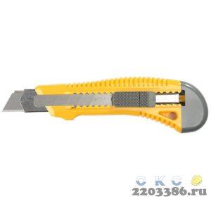 Нож упрочненный с метал. направляющей и сдвижным фиксатором FORCE-M, сегмент. лезвия 18 мм, STAYER