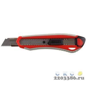 Нож с автостопом М-18А, сегмент. лезвия 18 мм, ЗУБР