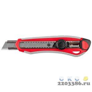Нож с винтовым фиксатором М-18В, сегмент. лезвия 18 мм, ЗУБР