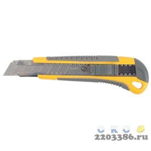 Нож с автостопом KS-18A, сегмент. лезвия 18 мм, STAYER
