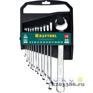 Набор комбинированных гаечных ключей 12 шт, 6 - 24 мм, KRAFTOOL