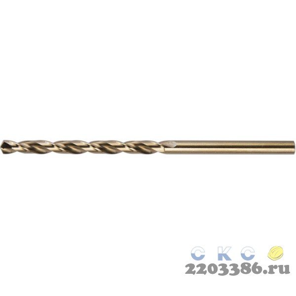 KRAFTOOL HSS-G 4.5 х80мм, Сверло по металлу HSS-G, сталь М2(S6-5-2)