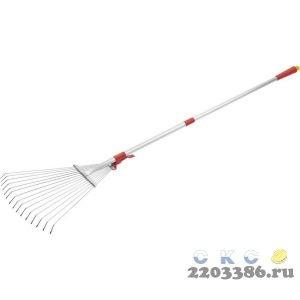 GRINDA PR-50 грабли веерные с телескопическим черенком, регулируемые, длина 800-1240 мм