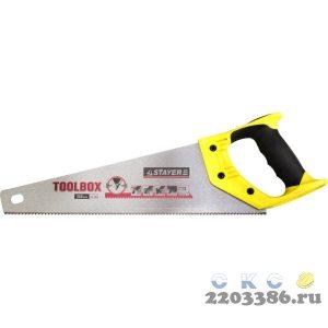 """Ножовка многоцелевая (пила) """"Cobra TOOLBOX"""" 350 мм, 11 TPI, мелкий прямой закаленный зуб, точный рез, STAYER"""