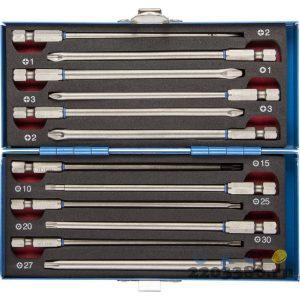 Набор ЗУБР: Биты удлиненные, обточенные, хромомолибденовая сталь, 120мм, 12 предметов