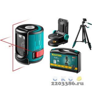 KRAFTOOL CL 20 #4 нивелир лазерный, 20 м, IP54, точн. +/-0,2 мм/м, держатель, штатив, в кейcе