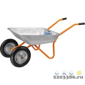 СИБИН СТ-21 тачка садовая двухколесная, 100 кг