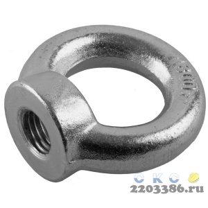 Рым-гайка DIN 582, М10, 1 шт, оцинкованная, ЗУБР