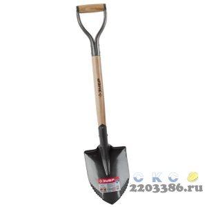 """Лопата """"БЕРКУТ"""" автомобильная, деревянный черенок, металлическая рукоятка, ЗУБР Профессионал"""