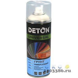 Грунт аэрозольный универсальный светло-серый DETON UNIVERSAL 520 мл (12)